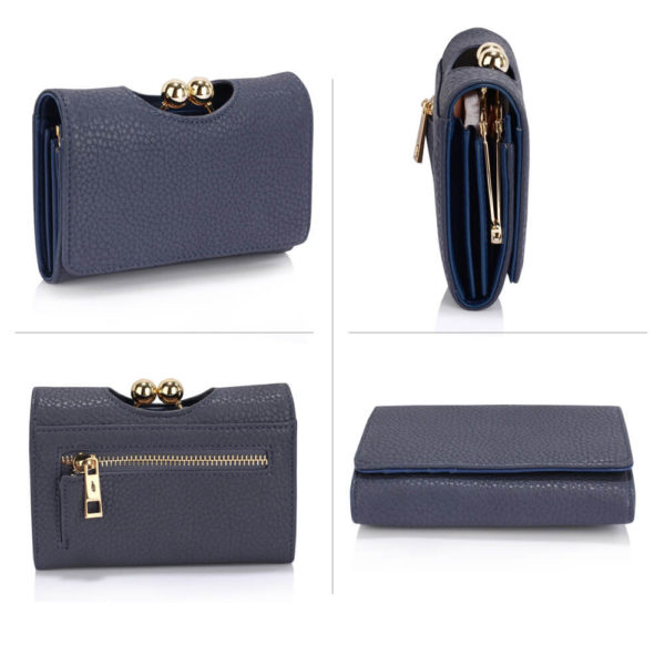 navy kisslock clutch card holder wallets in pakistan