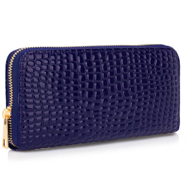 navy crocodile pattern purse – online wallets shopping in pakistan