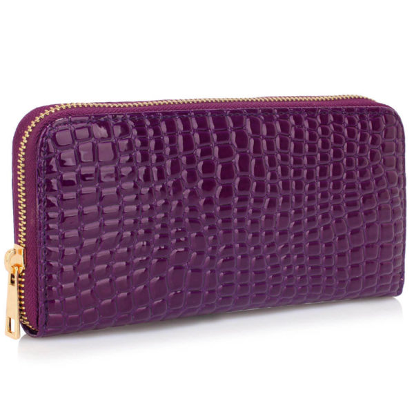purple crocodile pattern purse – online wallets shopping in pakistan