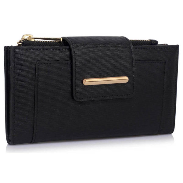 black flap top zip women wallets online shopping in pakistan