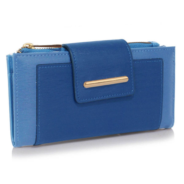 sky blue flap top zip women wallets online shopping in pakistan