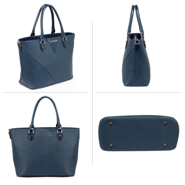 anna grace navy tote bags shopping online in pakistan