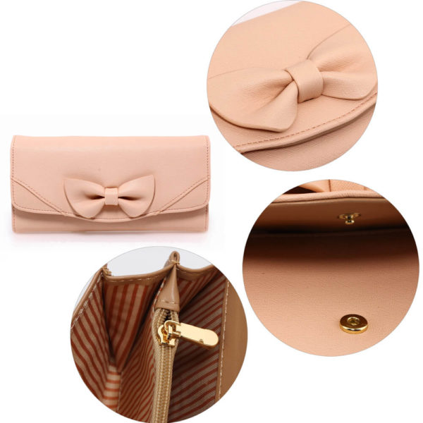 nude bow tie purse online shopping