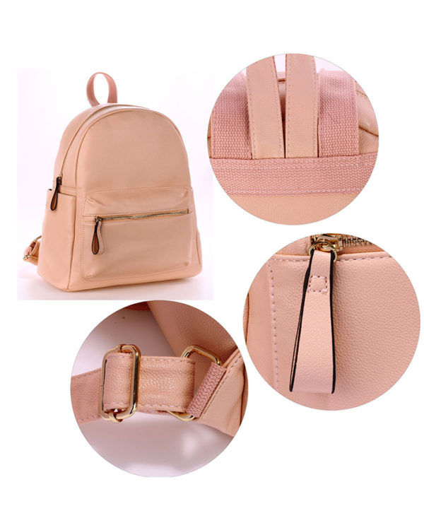 Nude backpack shoulder bag