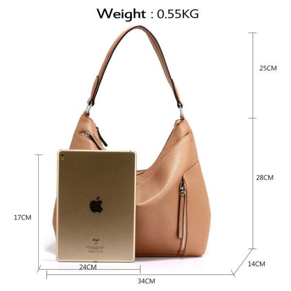 nude hobo shoulder bags for women
