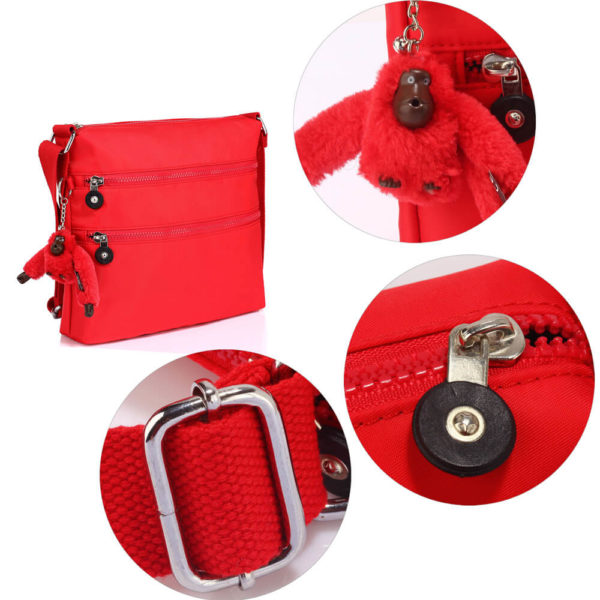 red branded crossbody bags
