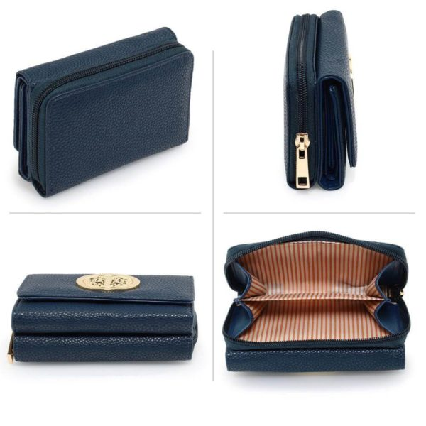 agp1052a – navy purse wallet with metal decoration_3_