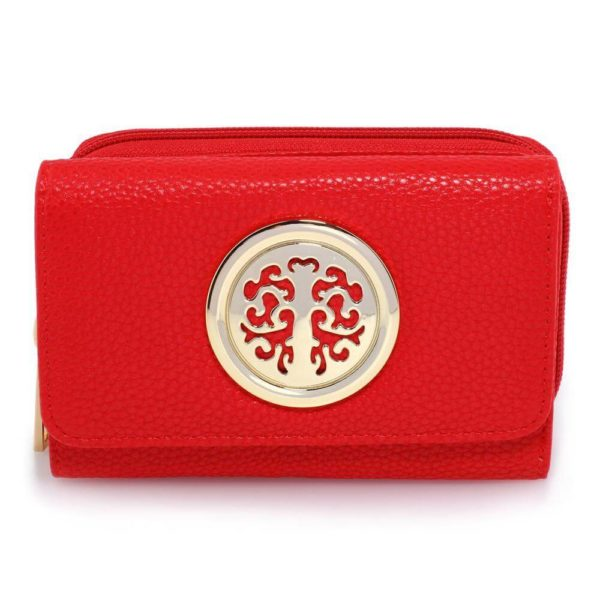 agp1052a – red purse wallet with metal decoration_1_