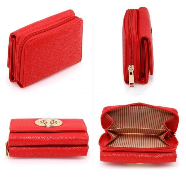 agp1052a – red purse wallet with metal decoration_3_