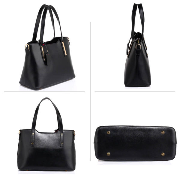 black leather shoulder tote bag in pakistan