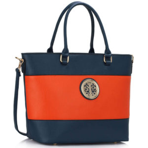blue orange designer tote bag in pakistan
