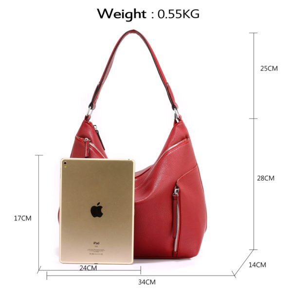 burgundy hobo shoulder bags for women