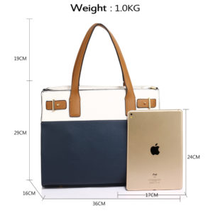 navy and white tote shoulder bags for women