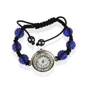 royal-blue- Shamballa Watch Bracelets ( Decorative watch)