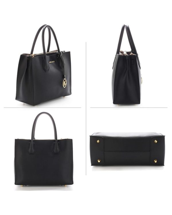 ag00559 – grab tote handbag with gold metal work black2