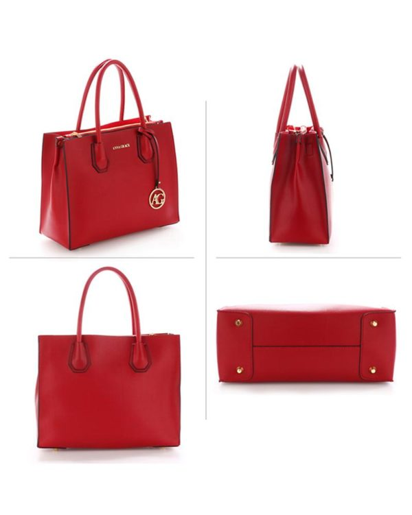 ag00559 – grab tote handbag with gold metal work burgundy2