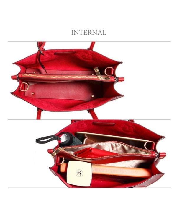 ag00559 – grab tote handbag with gold metal work burgundy3