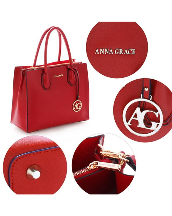 ag00559 – grab tote handbag with gold metal work burgundy4