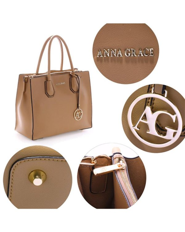 ag00559 – grab tote handbag with gold metal work nude4