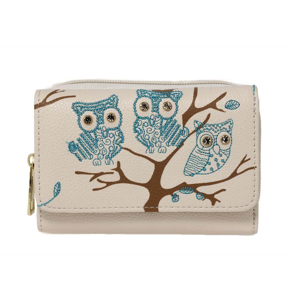 beige-owl-design-purse-wallet