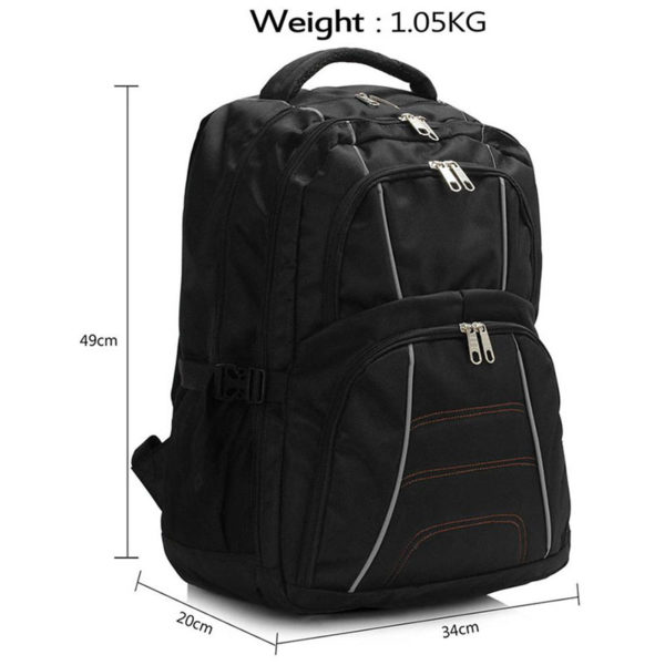 ls00444 – backpack rucksack school bag black3