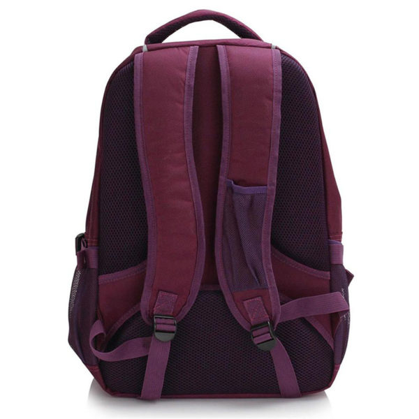 ls00444 – backpack rucksack school bag purple 1