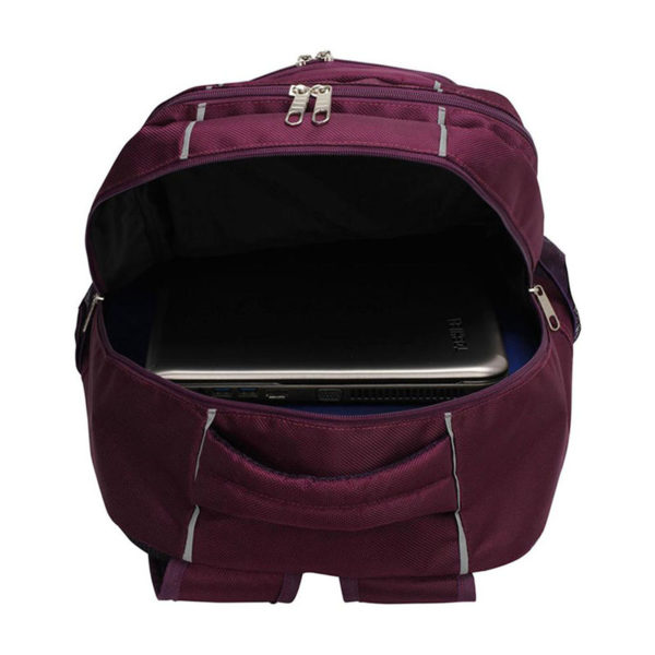 ls00444 – backpack rucksack school bag purple 2
