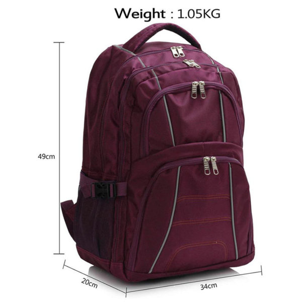 ls00444 – backpack rucksack school bag purple 3