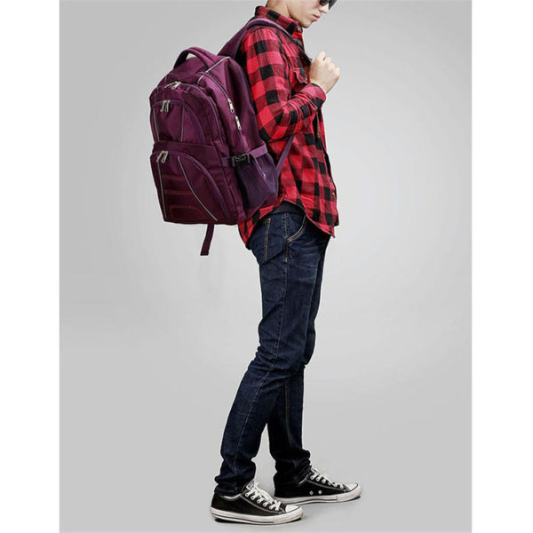 ls00444 – backpack rucksack school bag purple 4