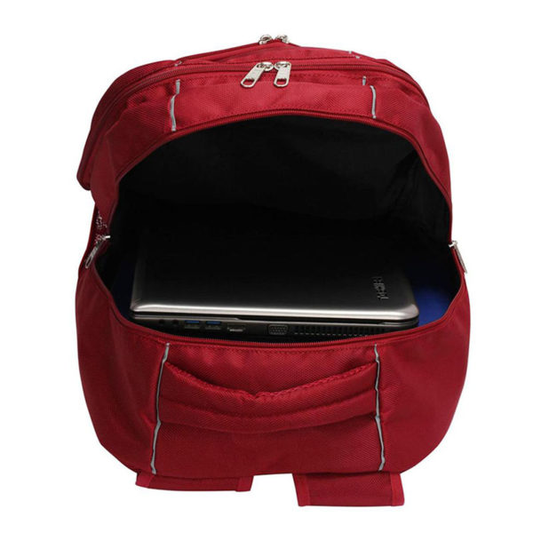 ls00444 – backpack rucksack school bag red 2