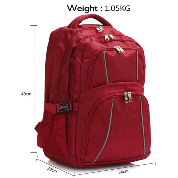 ls00444 – backpack rucksack school bag red 3