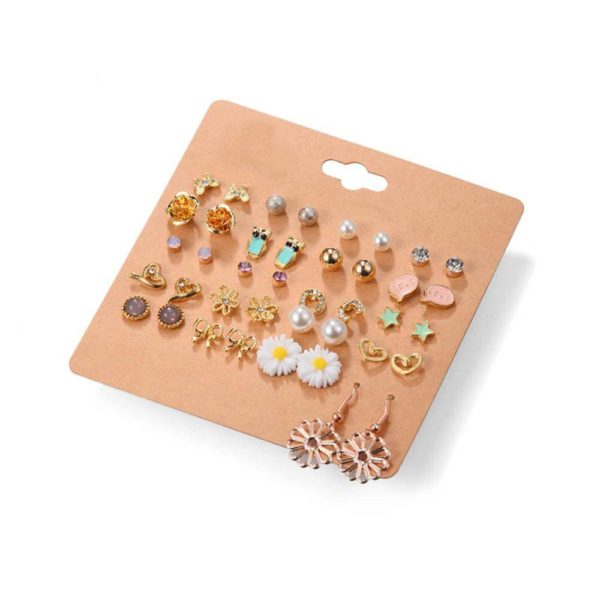 20 pair Stud Earring Set AS10 -1