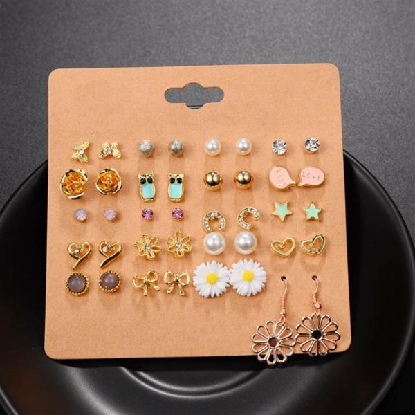 20 pair Stud Earring Set AS10