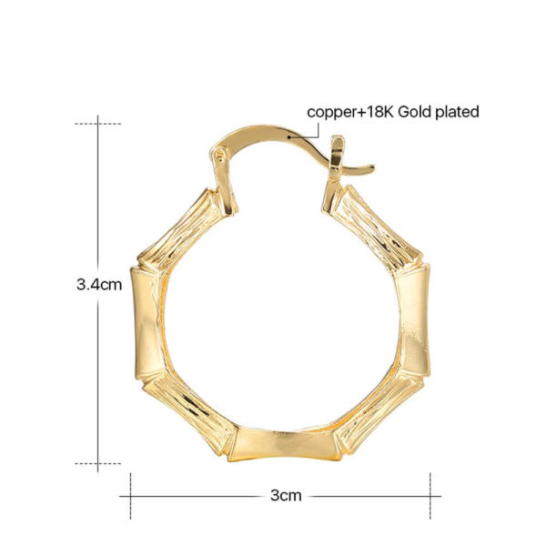 AE32 Gold Hoop Earring Trendy and stylish 7