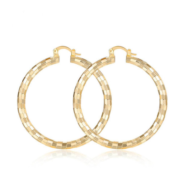 AE33 Big Round Hoop Earring For Women 1