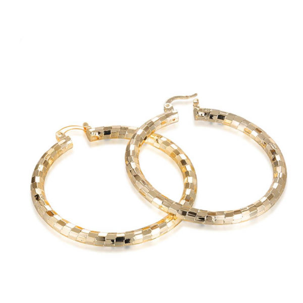 AE33 Big Round Hoop Earring For Women 2
