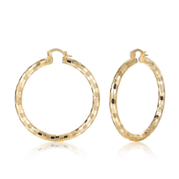 AE33 Big Round Hoop Earring For Women 3