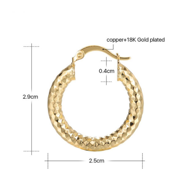 AE34 Small Circle Hoop Earring Shinny Gold 7