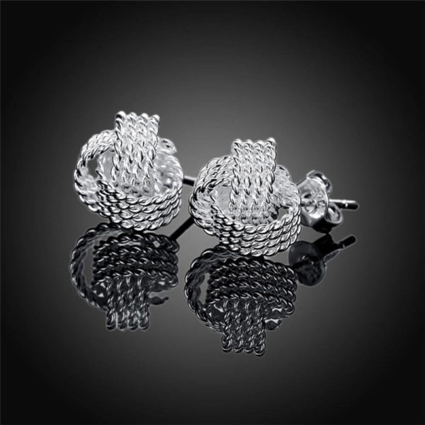 AE35 Stud Silver Plated Earring Small Size 2