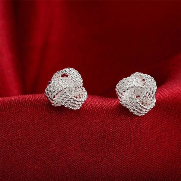 AE35 Stud Silver Plated Earring Small Size 3