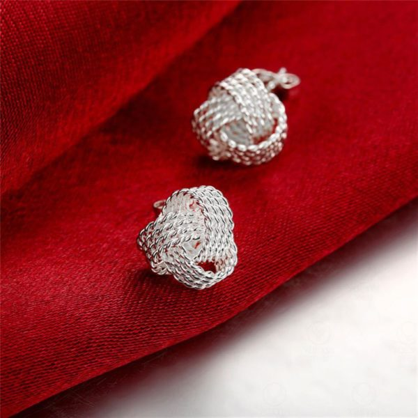 AE35 Stud Silver Plated Earring Small Size