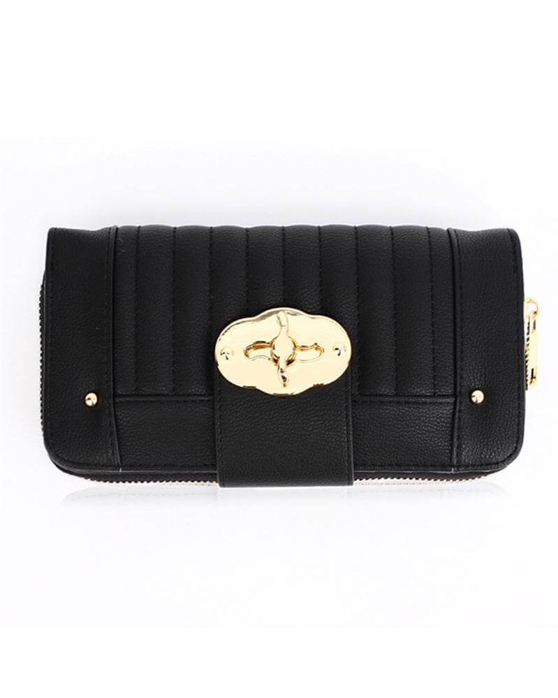 Zip Round Twist Lock Purse wallet