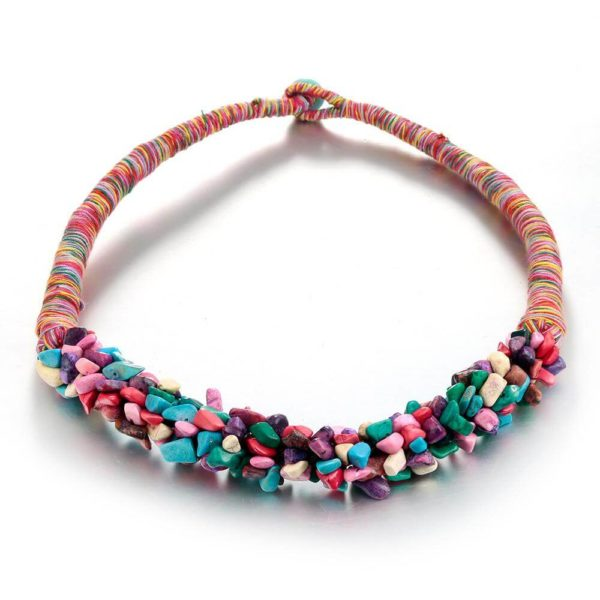 AN28 -Stone Necklace – Latest Design – Multi Color – Best Match to Summer Dress 1