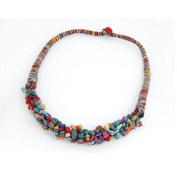 AN28 -Stone Necklace – Latest Design – Multi Color – Best Match to Summer Dress 2