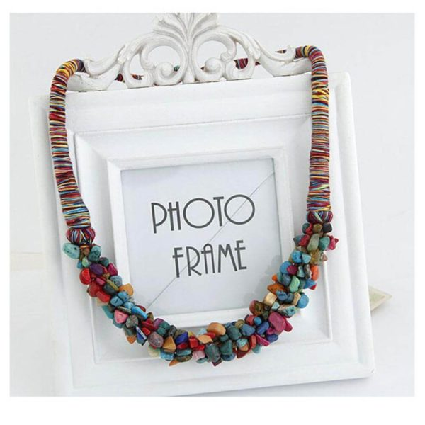 AN28 – Stone Necklace – Latest Design – Multi Color – Best Match to Summer Dress3
