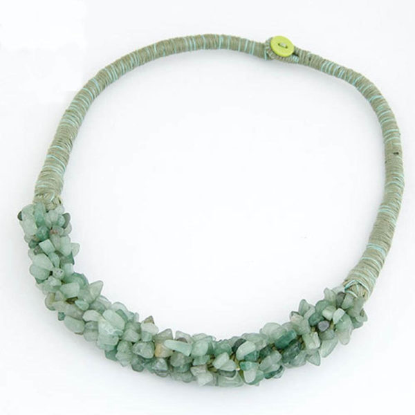 AN31Stone Necklace – Latest Design – Green – Best Match to Summer Dress