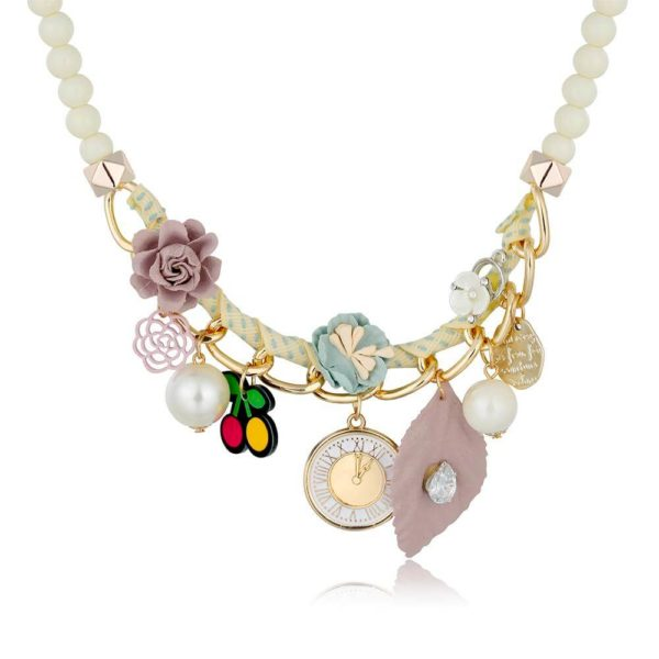 AN41 -Floral Fashion Necklace – Multi Colors 2
