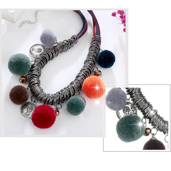 AN44 -Multi Color Ball Fashion Necklace – Latest Desgin 6