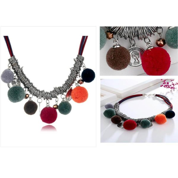 AN44 – Multi Color Ball Fashion Necklace – Latest Desgin5