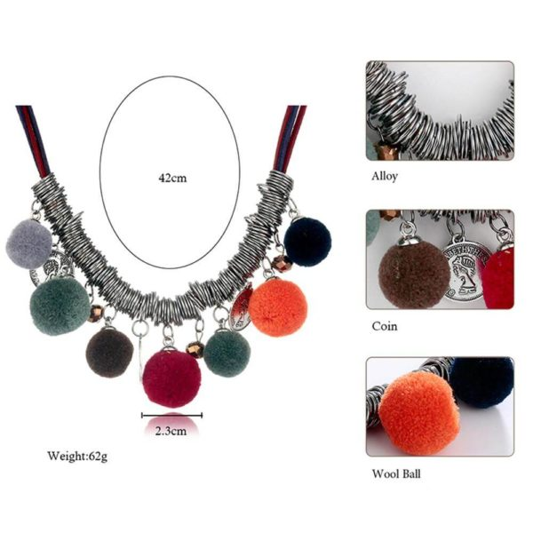 AN44 – Multi Color Ball Fashion Necklace – Latest Desgin7